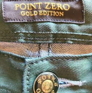 Men's Point Zero, Gold Edition,Coated Jeans